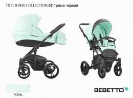 КОЛЯСКА  BEBETTO TITO JEANS COLLECTION 2 в 1